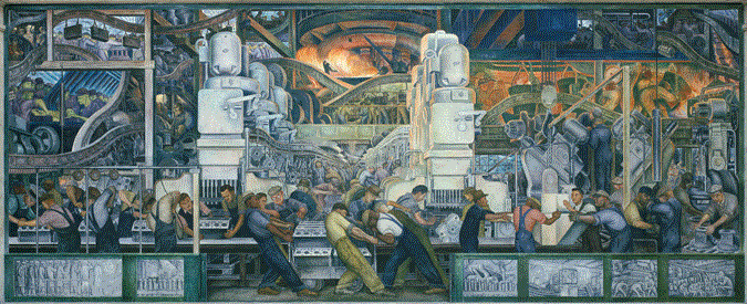 Production systems engineering for Diego rivera mural new york rockefeller